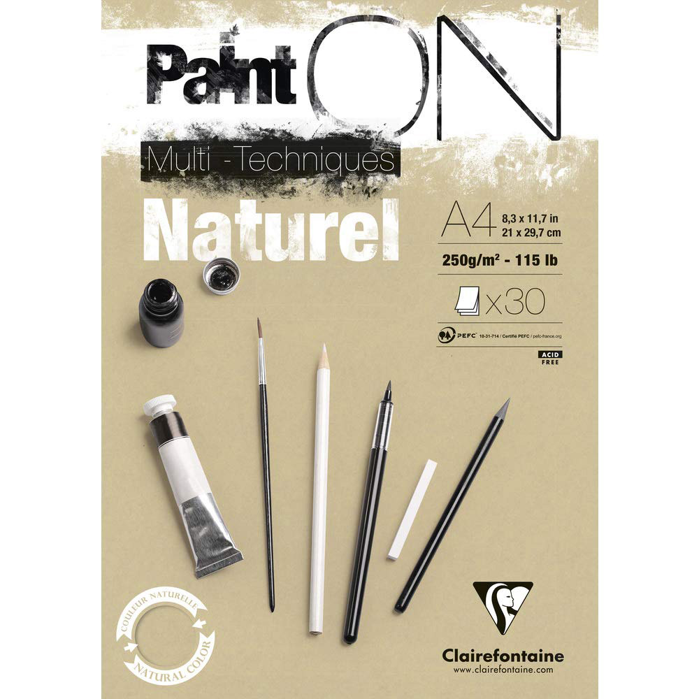 "Блок-склейка ""Paint'On"" Naturel, А4, 250 г/м2, 30 л"